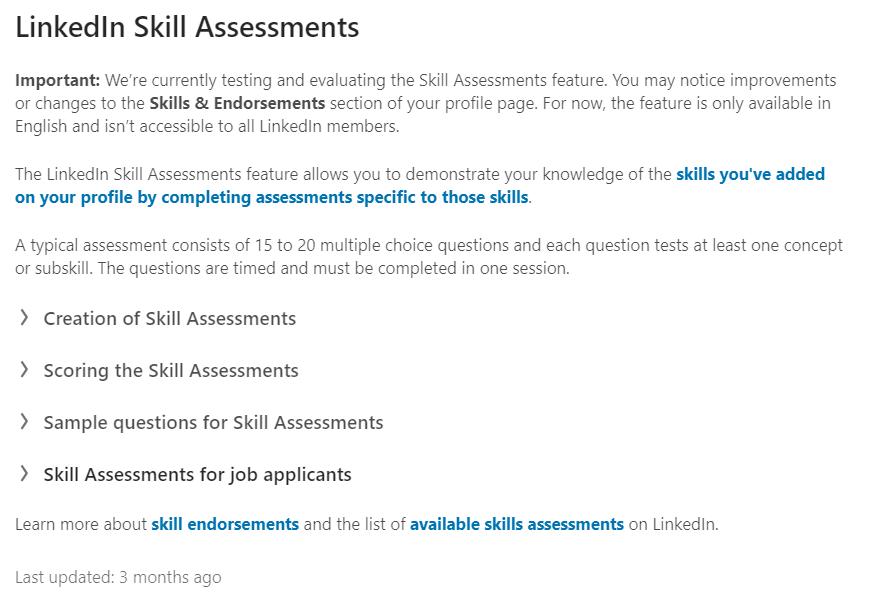 nowe funkcje Linkedin / wyszukiwanie na LinkedIn / sourcing na LinkedIn / skill assessments