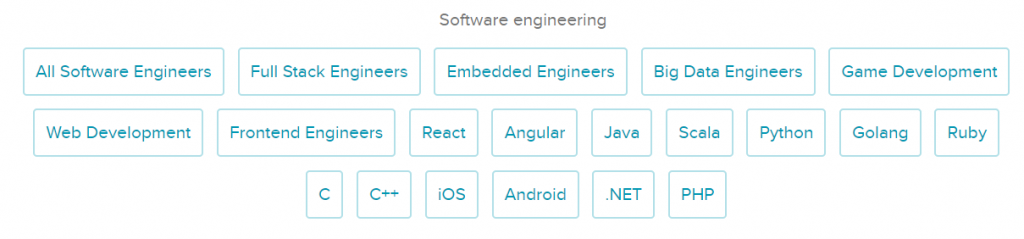 amazing hiring list of specialties for AI sourcing